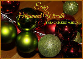 the chicken diy ornament wreath