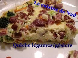 la cuisine de nad quiche sans pâte aux légumes et gésiers de volaille la cuisine