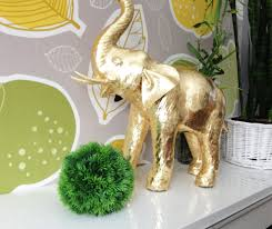Gold Home Decor Accessories Lucky Gold Elephant Home Decor In Bathroom Accessories In What To
