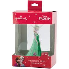 hallmark disney frozen elsa in green dress resin ornament
