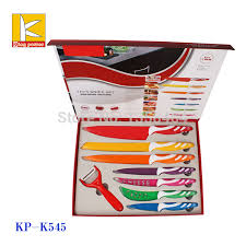 swiss kitchen knives stock tray color box royal line style non stick color coating