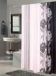 Shower Curtains White Fabric Bathroom Bronze Mosaic Fabric Shower Curtain And Bathroom