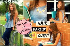 hair and makeup school day of school hair makeup