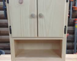 Bathroom Wall Cabinet With Drawers by Bathroom Wall Cabinet Etsy