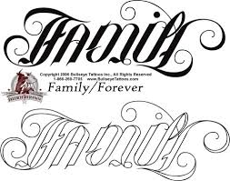 family forever search tattoos ambigram