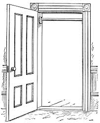drawing a house 1 clipart etc open door drawing how to draw an open door drawing youtube bgbc co