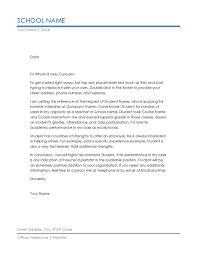 brilliant ideas of recommendation letter sample education on form