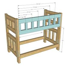 Doll Bunk Beds Plans White C Style Bunk Beds For American Or 18 Dolls