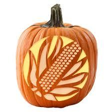 corn pumpkin stencil