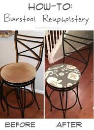 How To Reupholster A Bar Stool Diy Saddle Seat Bar Stool Padding Step By Step Photos Used Only