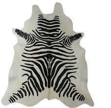 chesterfield leather stenciled zebra brazilian cowhide black white