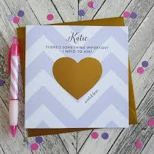 bridesmaid invitations uk will you be my bridesmaid scratch card by cherub design