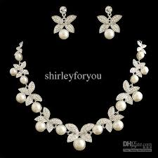 jewelry necklace pearl images 2018 bridal pearl necklace earrings wedding jewelry set nj 575 jpg