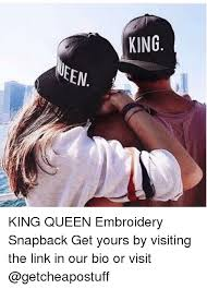 Meme Snapback - king meen king queen embroidery snapback get yours by visiting the