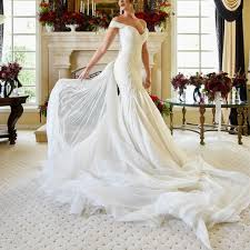 the shoulder wedding dress vintage lace mermaid wedding dress shoulder bridal gowns 2018