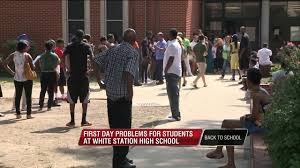 problems at white station high on first day of wreg com