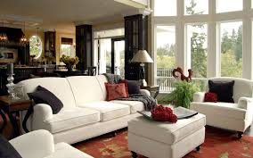 The Living Room Lounge by Alluring Small Living Room Design With Grey Single Sofas And Brown