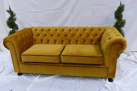 Chesterfield Sofa Hire Gold Velvet Chesterfield Inspired 3 Seat Sofa Funky Furniture Hire