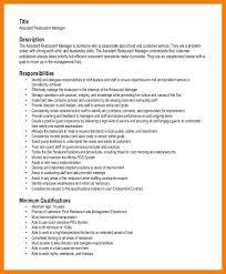 Restaurant Manager Sample Resume Sample Restaurant Resume Restaurant Service Resume Free Edit With