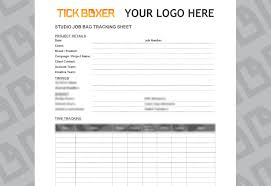 Document Cover Sheet Template by Studio Job Bag Cover Sheet Template Tick Boxer