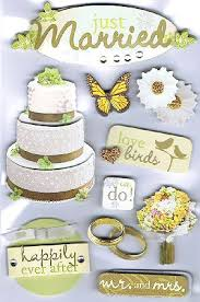 wedding scrapbook stickers 3d just married stickers 11032 wedding stickers