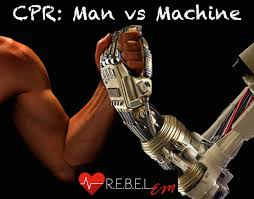 cpr in out of hospital cardiac arrest man vs machine r e b e l