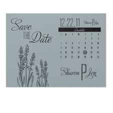 Save The Date Samples Lavender Save The Date Sample