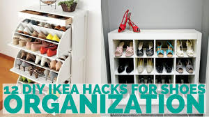 12 diy ikea hacks for shoes organization youtube