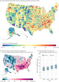 New Stanton Pa Map Us County Level Trends In Mortality Rates For Major Causes Of