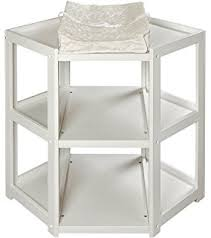 corner baby changing table amazon com badger basket diaper corner baby changing table with