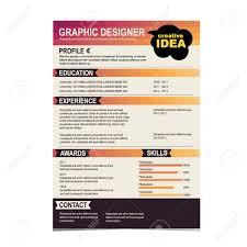 Resume Vector Resume Template Cv Creative Background Vector Illustration