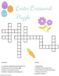 Decorate Easter Eggs Crossword by Easter Crossword Puzzle Free Printable Cook Craft Love