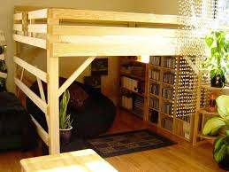 Bunk Bed Frames Solid Wood by Wood Full Loft Bed Stacker Low Bunk Bed With Stairs Matrix Kids