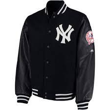 Mens Bench Jacket New York Yankees Jackets Yankees Track Jackets Coats Pullovers