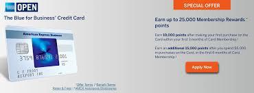 Rewards Business Credit Cards American Express Blue For Business Credit Card 25k Offer Upon