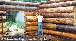 log home interior walls cleaning logs