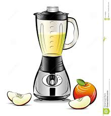 drawing color kitchen blender with cherry juice stock images