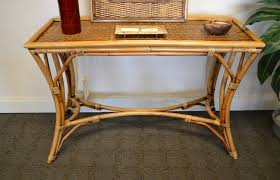 Rattan Console Table Modern Rattan Console Table Aesthetic Style For Rattan Console