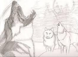 howling wolf sketch by outsidersrebalwolf on deviantart