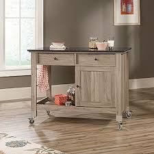 kitchen islands oak sauder select mobile kitchen island salt oak 417089