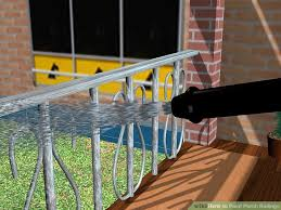 Sanding Banister How To Paint Porch Railings 12 Steps With Pictures Wikihow