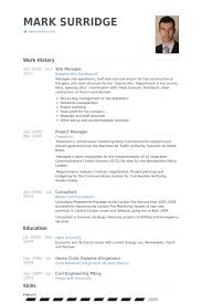 site manager resume logistics manager cv template example job