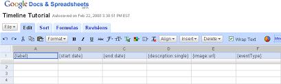 Spreadsheet Tutorial Timeline Tutorial Setting Up Your Spreadsheet In Docs