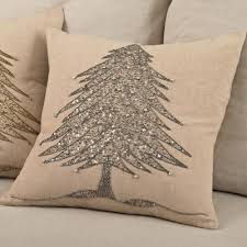 beaded tree pillow discover unique seasonal throw pillows