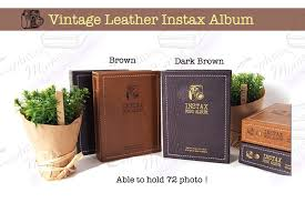 vintage leather photo album instax capturing moment instax album instax capturing moment