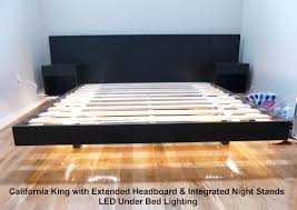 Floating Platform Bed Great Platform Bed Floating Along With Danish Teak Queen Platform
