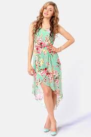 floral dresses pretty floral print dress high low dress 44 00