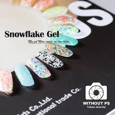 gellen uv gel nails polish 3pcs lot soak off uv led snowflake gel