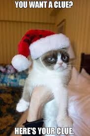 Grumpy Meme - you want a clue here s your clue meme grumpy cat christmas
