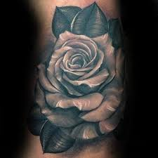 white realistic inner arm male rose tattoo design ideas gggg